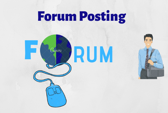 50 Forum Posting for organic traffic and increase google ranking