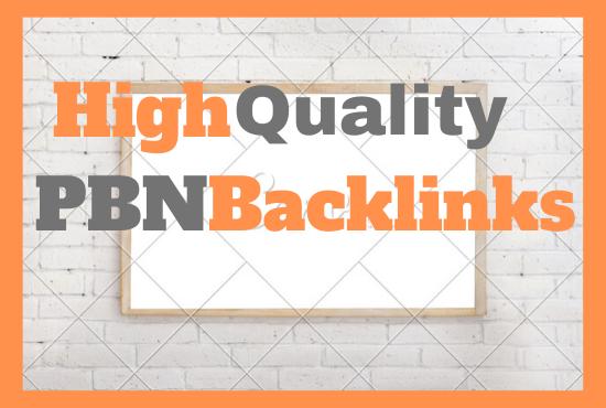 High Quality PBN DA-PA 20-70 Permanent Backlinks On TF 20+ Manually