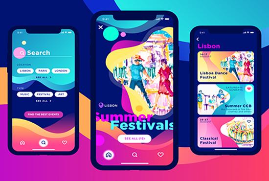 I will provide creative ux ui design for mobile app