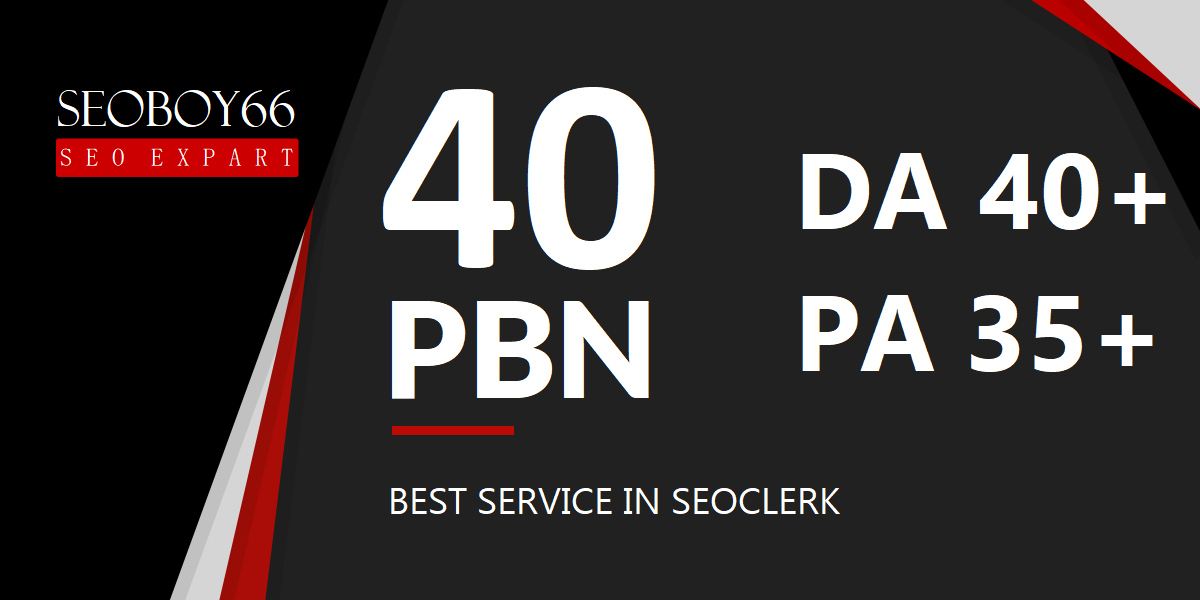 Great quality 40 web 2.0 PBN backlinks in 40 unique domain