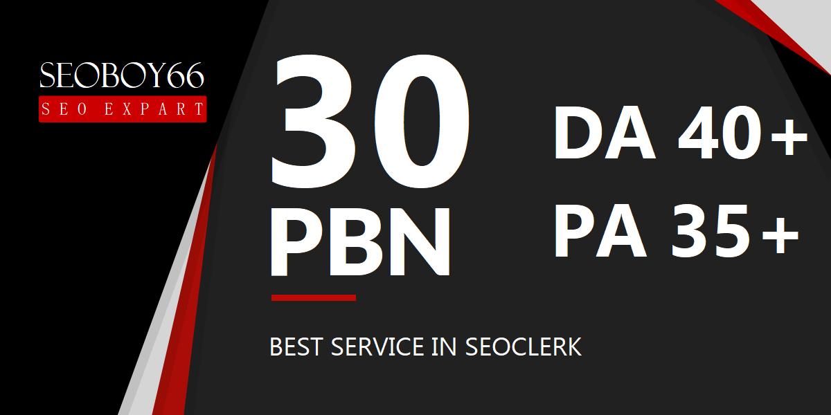 Super quality 30 web 2.0 unique PBN