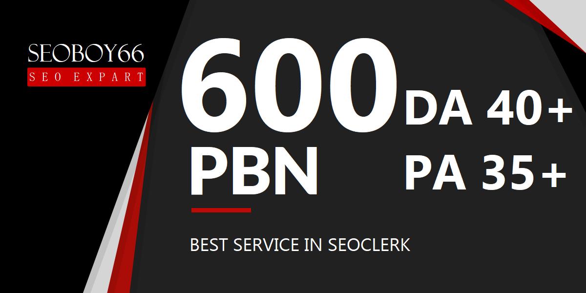 Excellent quality unique 600 web 2.0 PBN backlinks