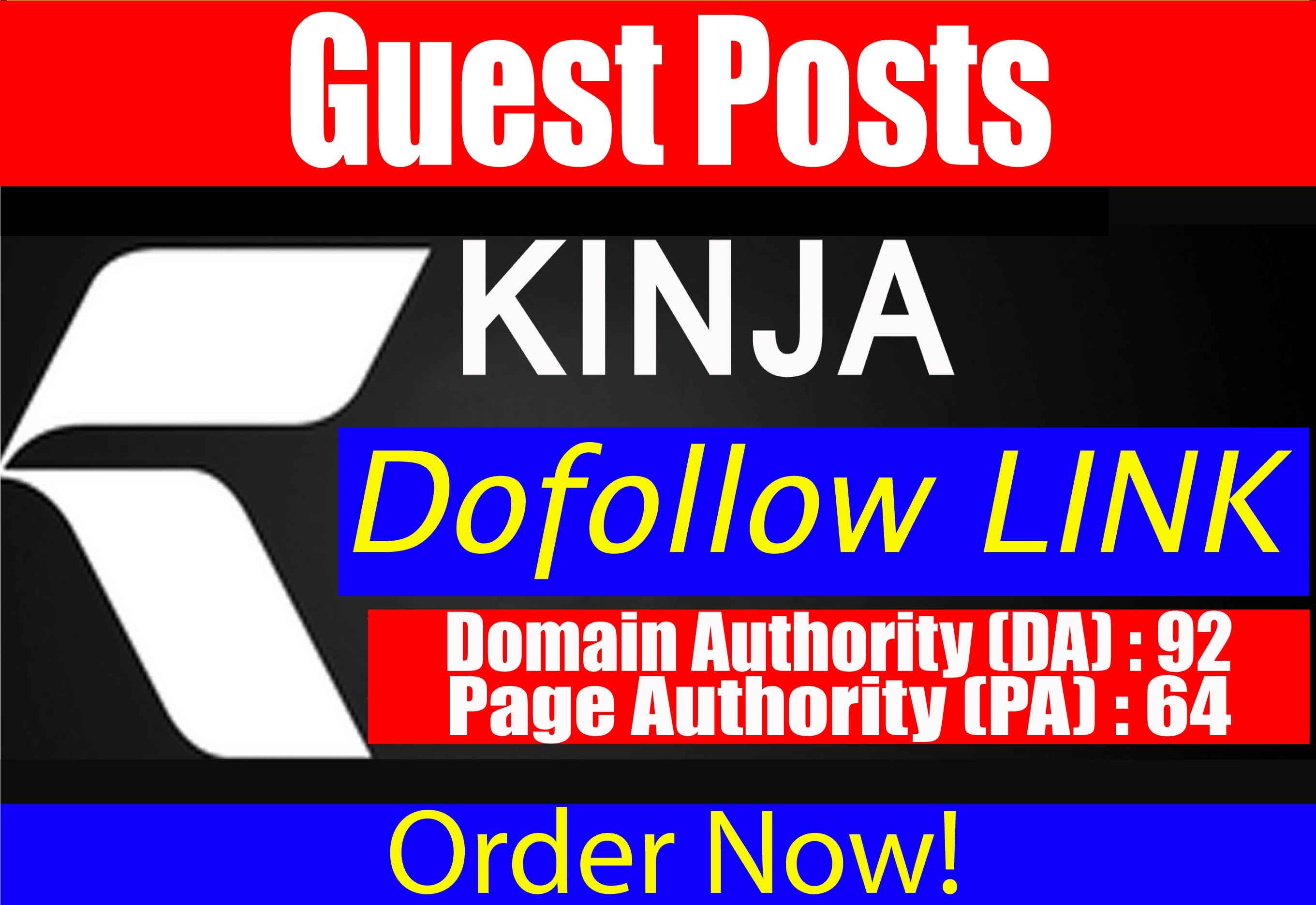 write & Publish Guest Post on,  kinja. com High DA 92
