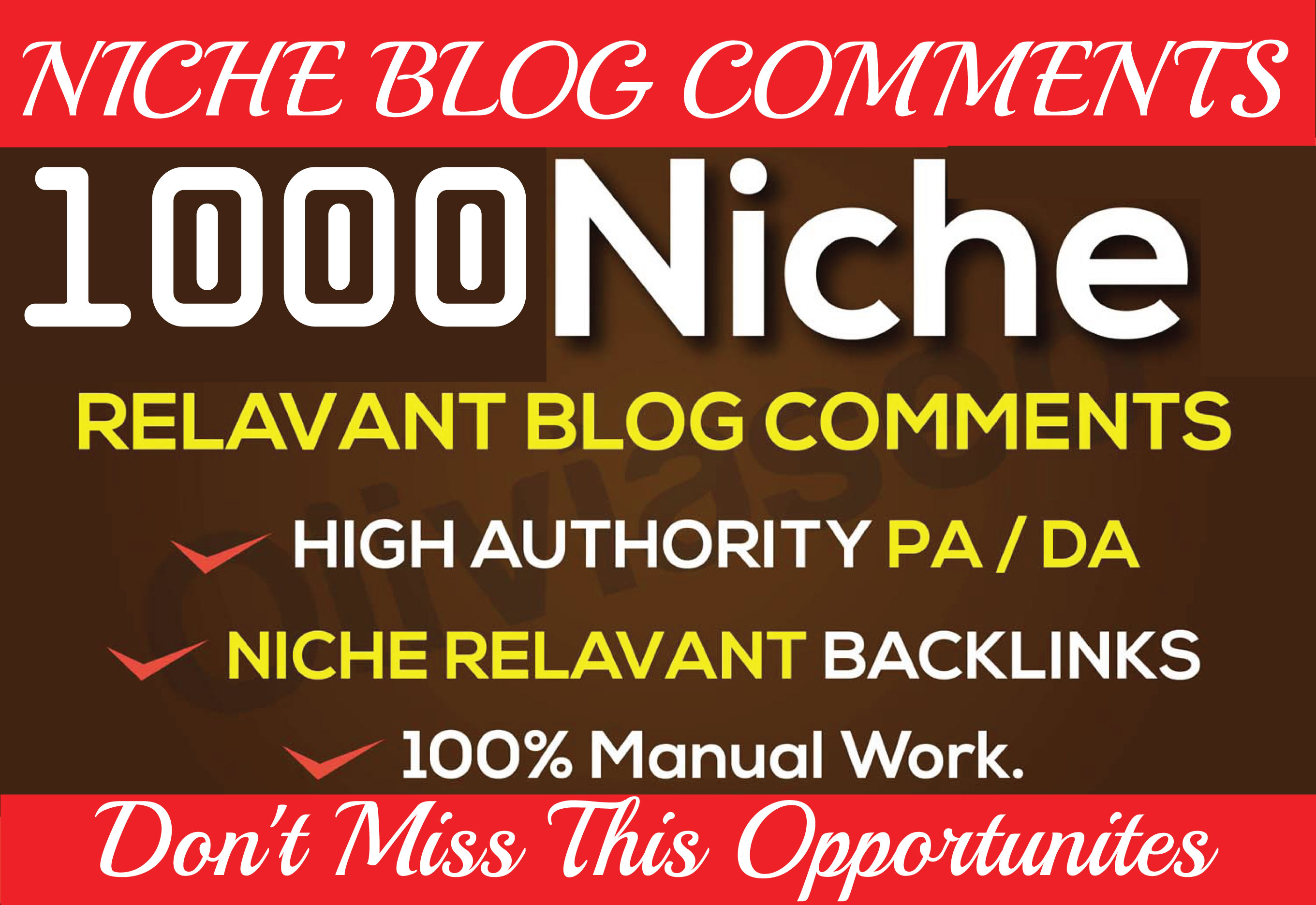 Build 1000 Niche Relevant Blog Comments Backlinks on High DA 80