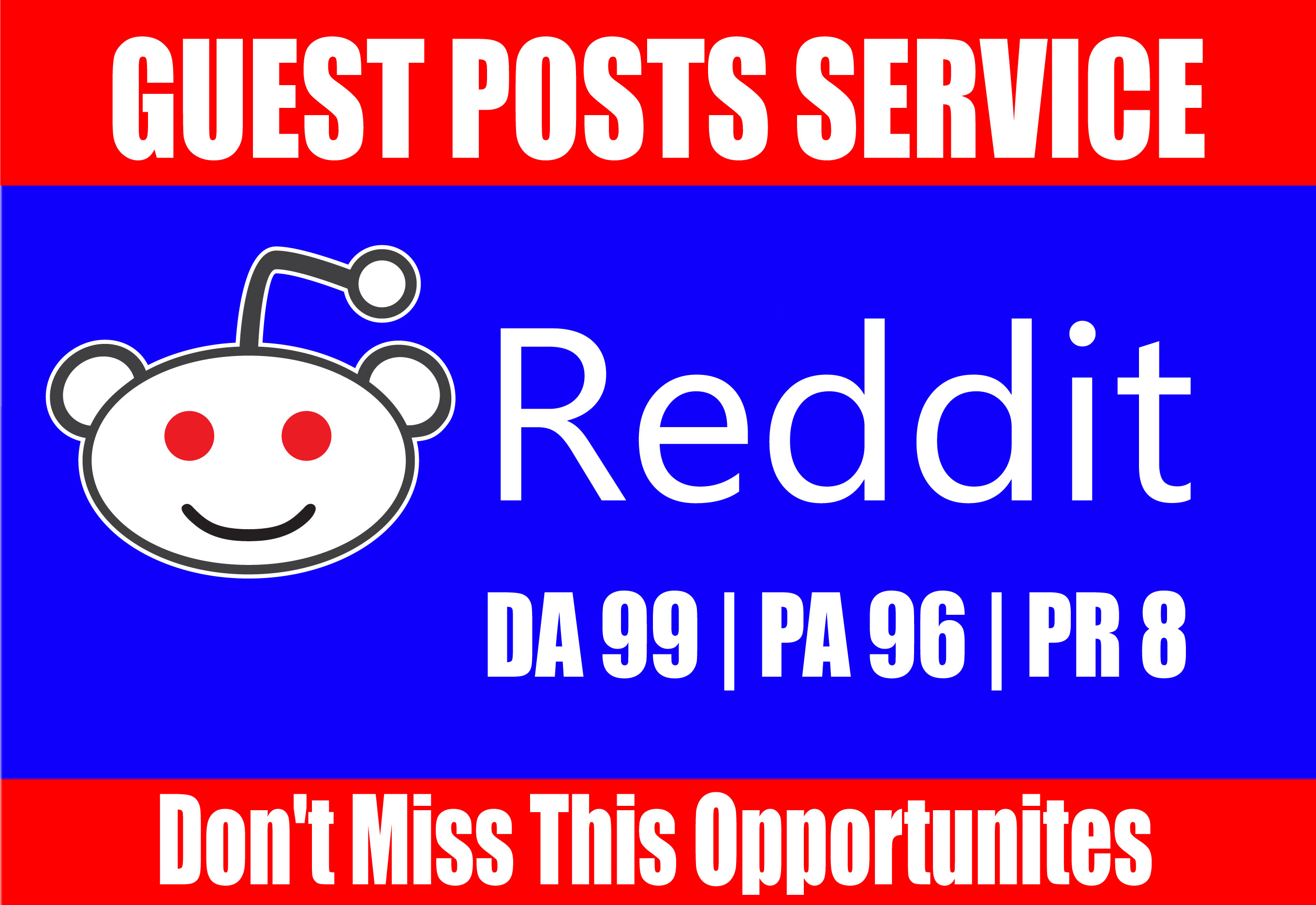 Write and Publish A Guest Blog Post On Reddit DA 99