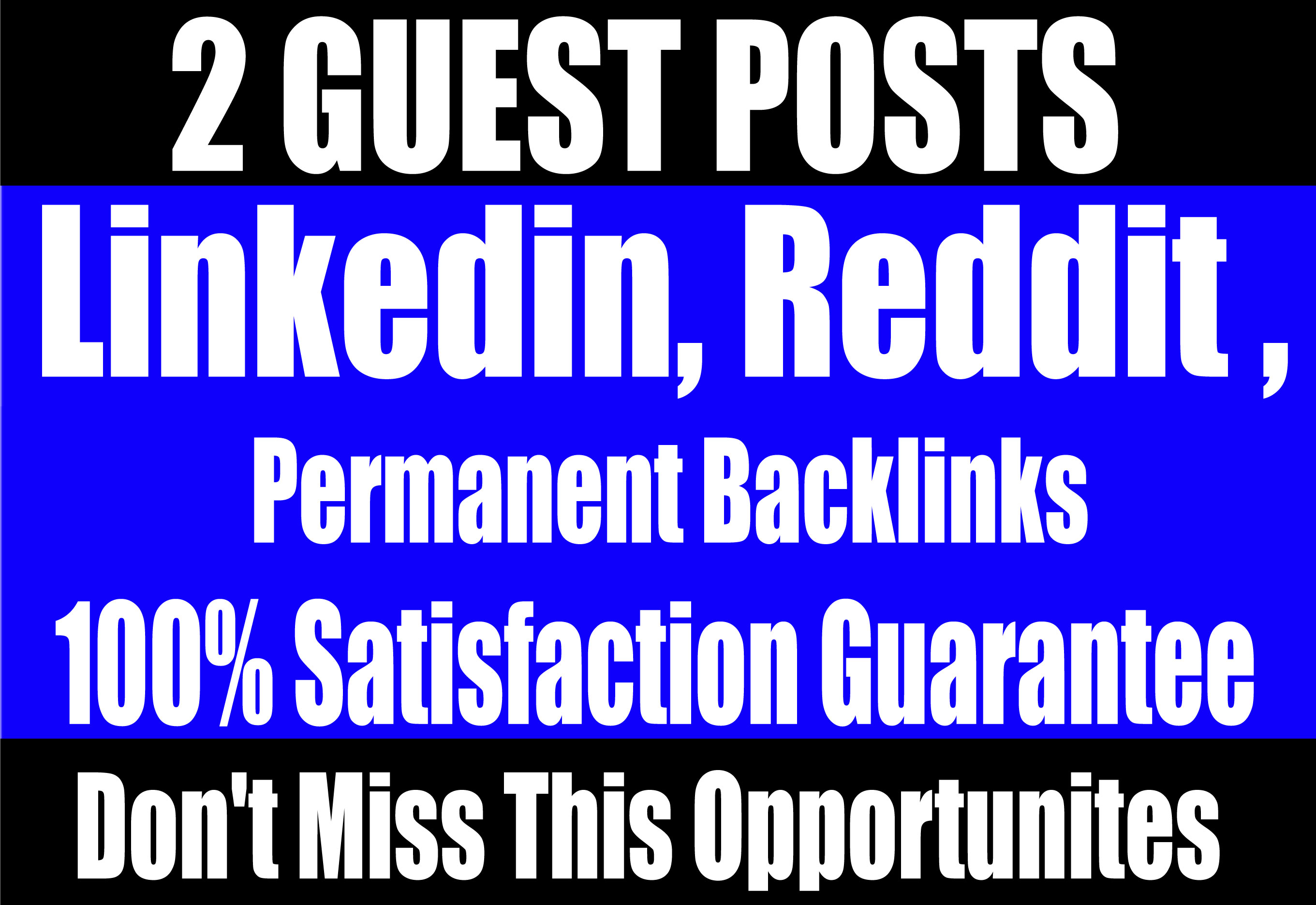Publish 2 Guest Posts on Linkedin,  Reddit - High DA websites Boost your SEO Ranking