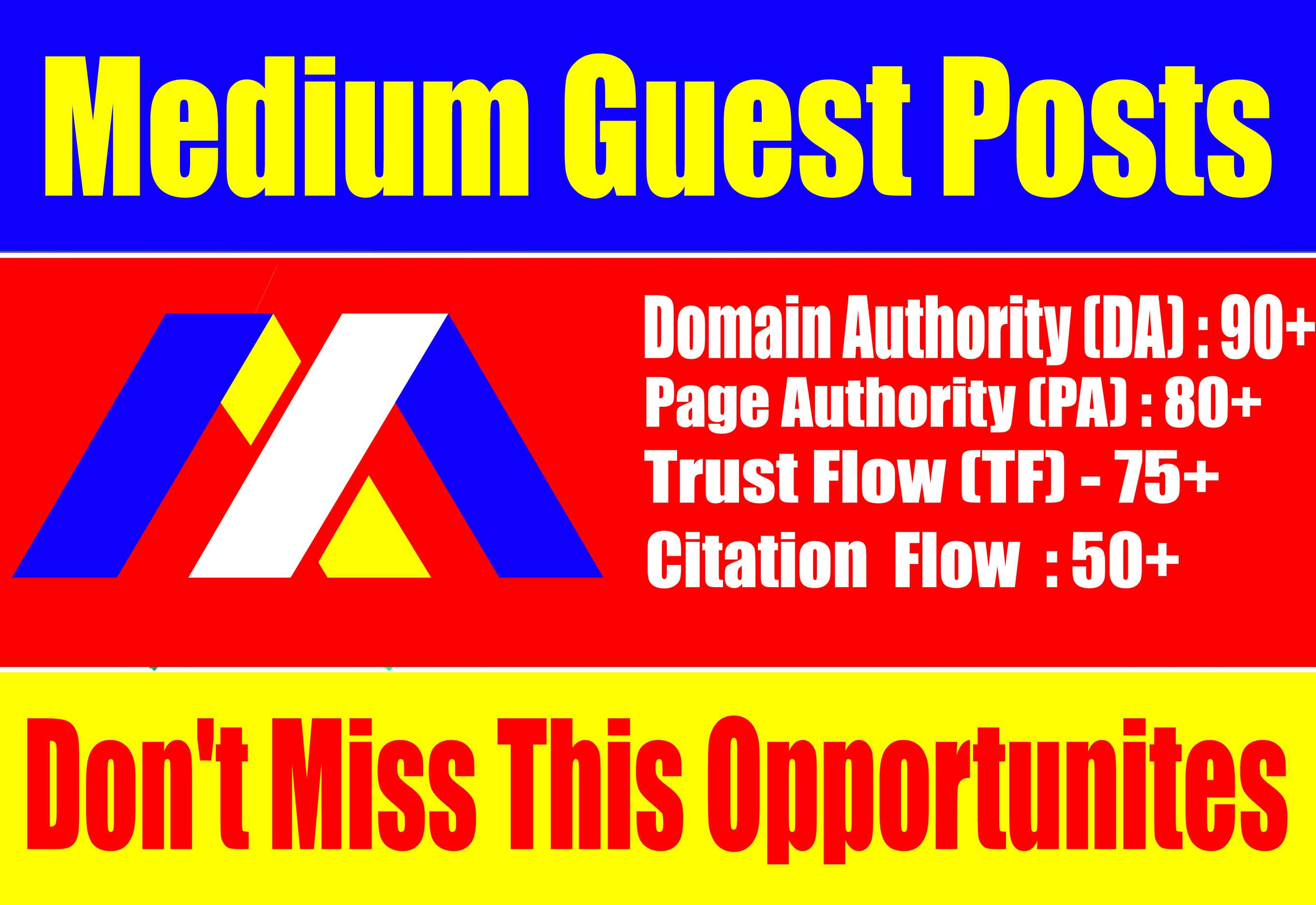 Guest Post On Medium DA 90 PA 80 With Permanent Backlinks