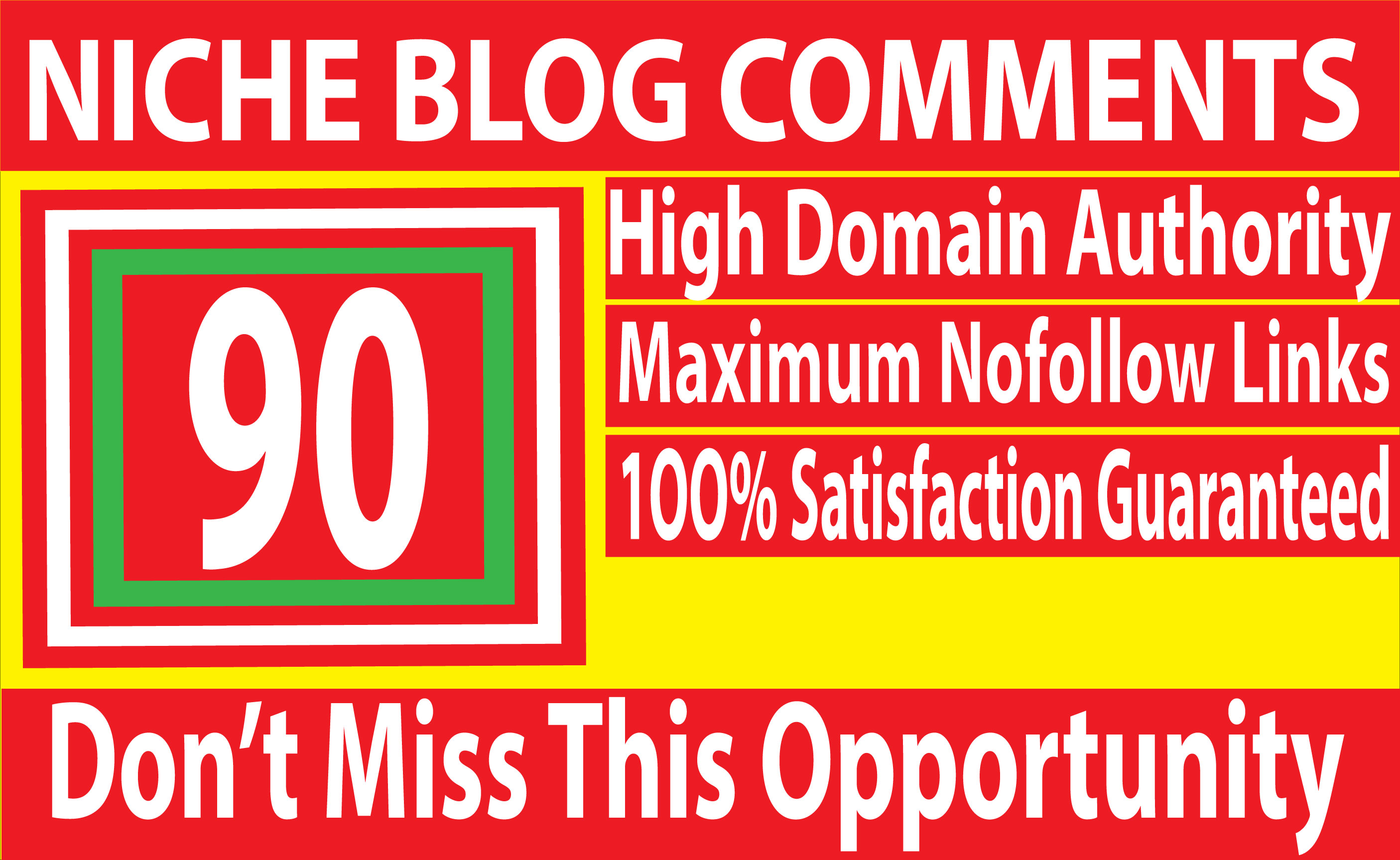 I will Do 90 niche relevant Blog Comments backlinks