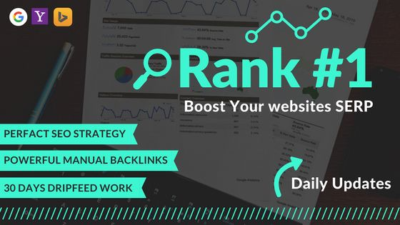 I will do 30 days drip feed with complete seo on your site 1st page ranking on google