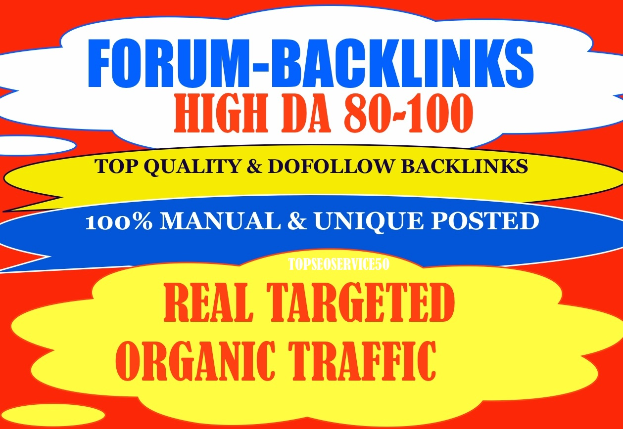 Get 100 High Quality Forum Post Backlinks For Real Organic Traffic