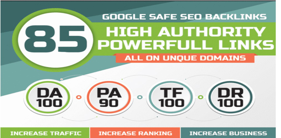 High Authority 85 Unique Domain SEO Backlinks