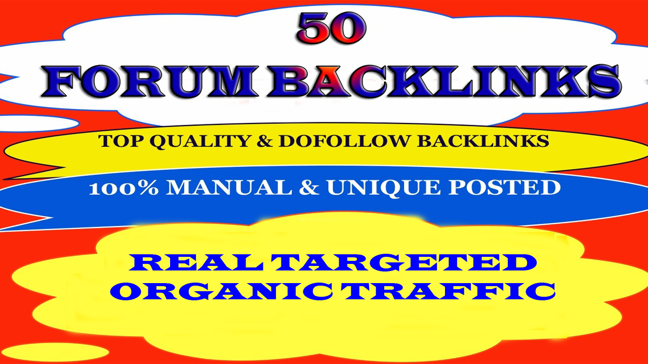 Provide 50 forum posting dof0llow backlinks on high DA, PA blog