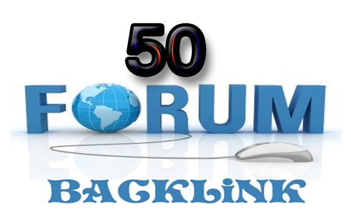 I will provide 50 dof0llow forum posting backlinks on high DA sites