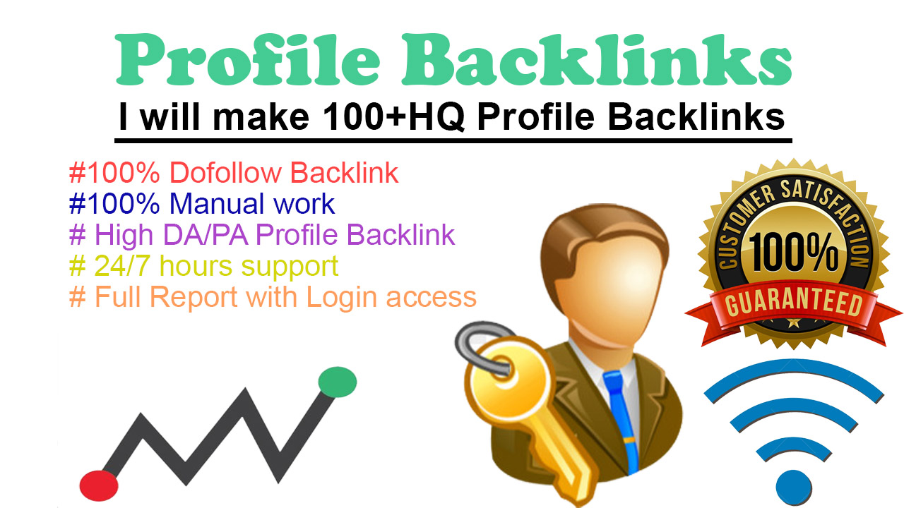 100 Hq Domain Authority Profile Backlink with manually