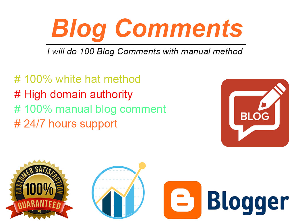 100 Blog Comments with manual method