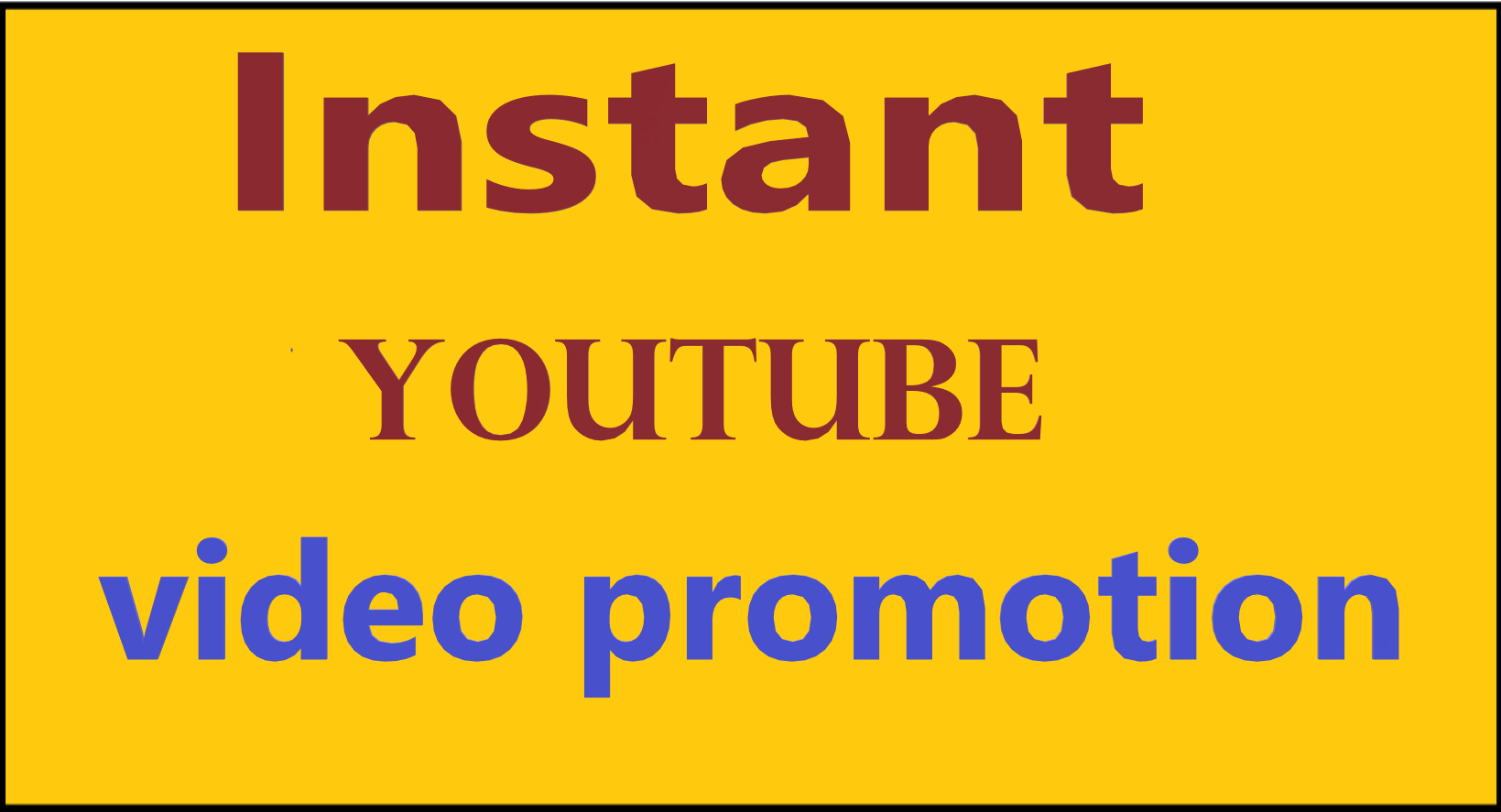 Organic instant start YouTube video promotion via seo marketing