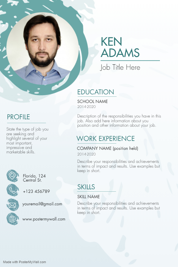 I will write a professional CV and resume with modern design