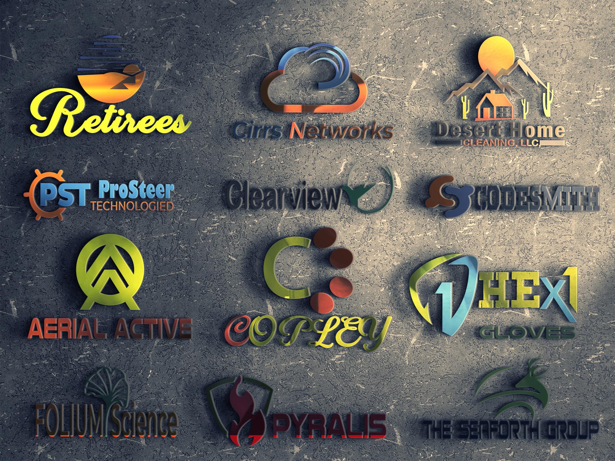 I will design 3 minimalist logo concepts design