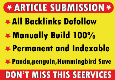 Provide 50 Dofollow Article Submission Backlinks On High Quality Blog