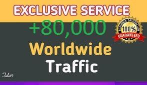 80,000 worldwide dsence safe raffic form traffic facebook, YouTube, Twitter, Linkedin, instagram