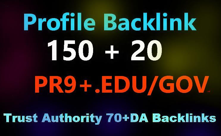 Manually 150 Pr9 + 20 Edu-Gov High Domains Authority Safe Seo Backlinks