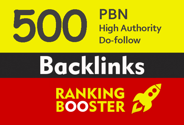 High Authority 500+ Do-follow backlink rank for google