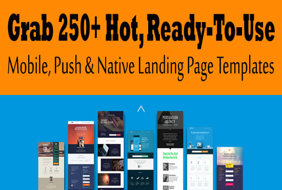 I will give you 250 ready to use landing pages