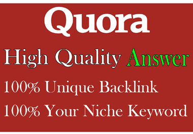 I will Posting HQ 35 Quora Answer with backlinks