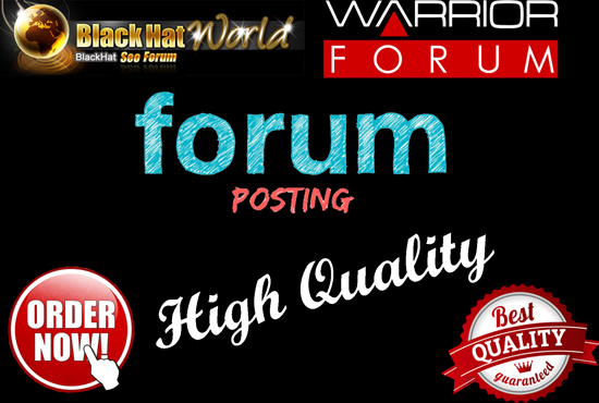 10 HQ Niche Relevant Forum Posting Backlinks