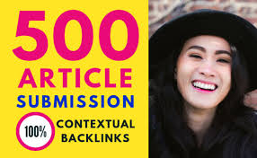 500 Article Submission Backlinks best for your seo service
