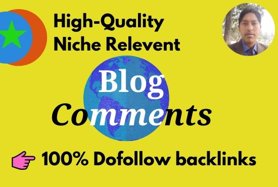 l Will Do 20 Manually niche relevant Blog Comments