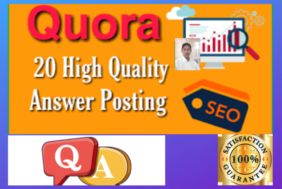 . Posting high quality 10 Quora answers including your keyword and URL.