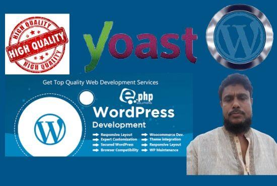 I Will Build Professional & Responsive WordPress WebSite In 24 Hour Service
