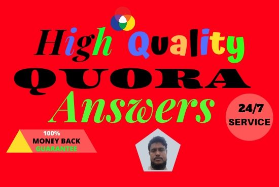 Posting high quality 5 Quora Answers including your keywords and URL