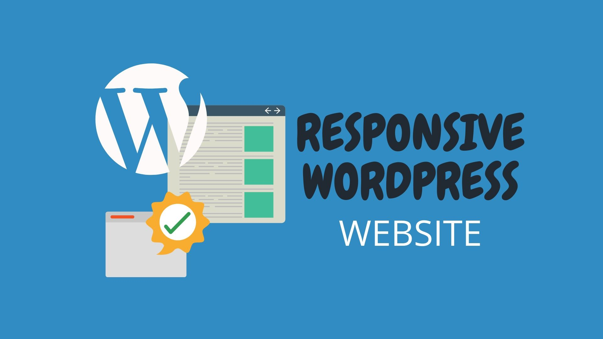 i will create a complete wordpress responsive website for you