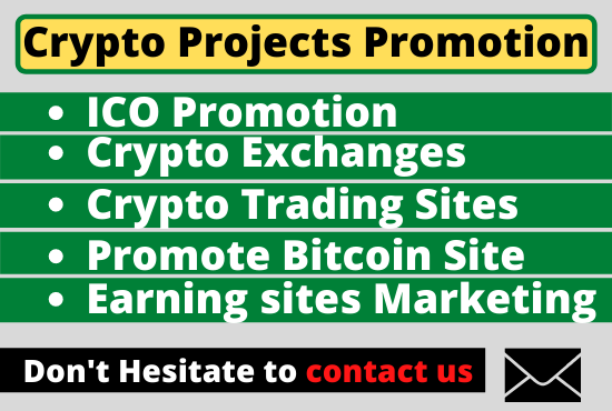 I will promote crypto token,  bitcoin site promotion and ico marketing