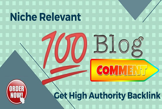 100 Niche Relevant Manual Blog Comment Get High DA PA backlinks.
