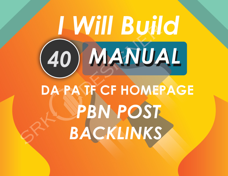 Build 40 High Metrics Powerful PBN Links Contextual Backlinks