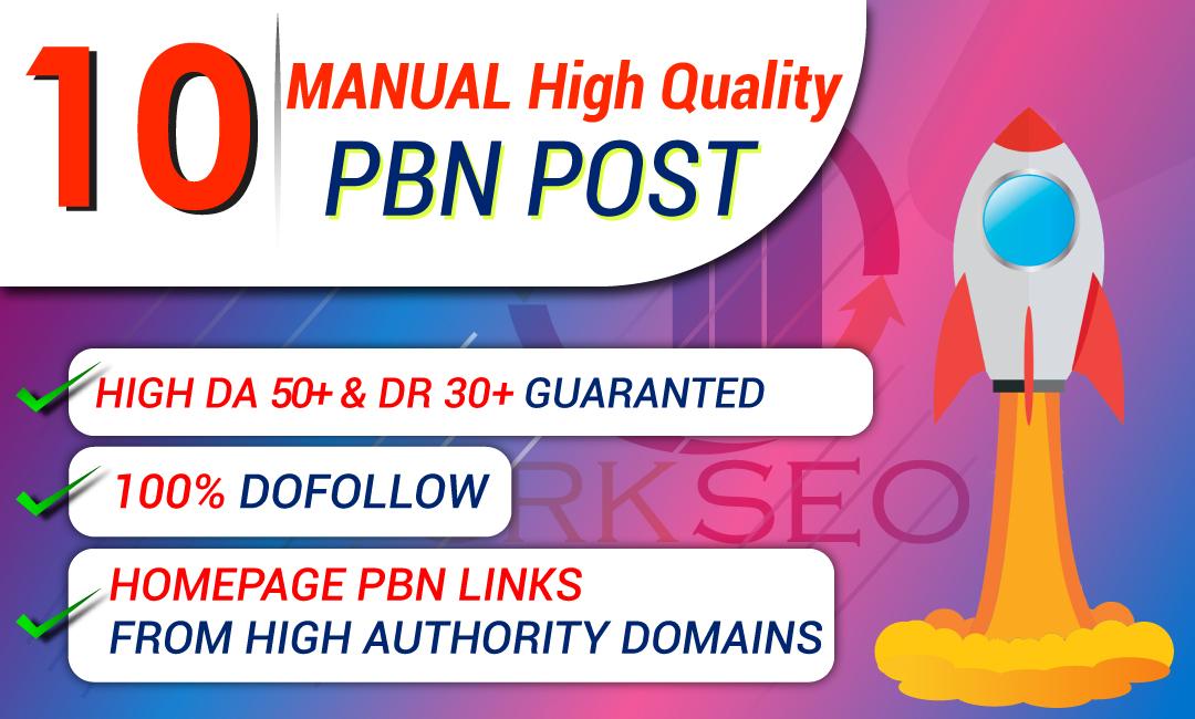 Build 10 PBN DA 50+ and DR 30+ Contextual Backlinks
