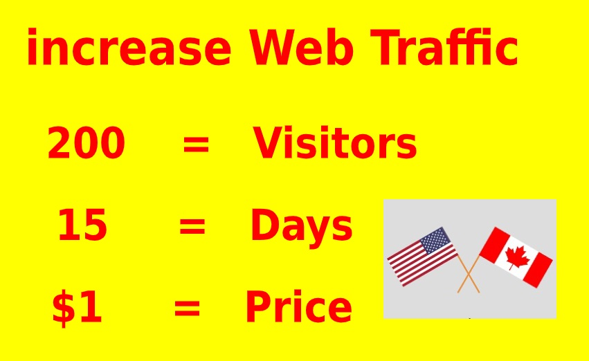 I Will Drive unlimited Traffic From Usa and Canada to your website or blog site