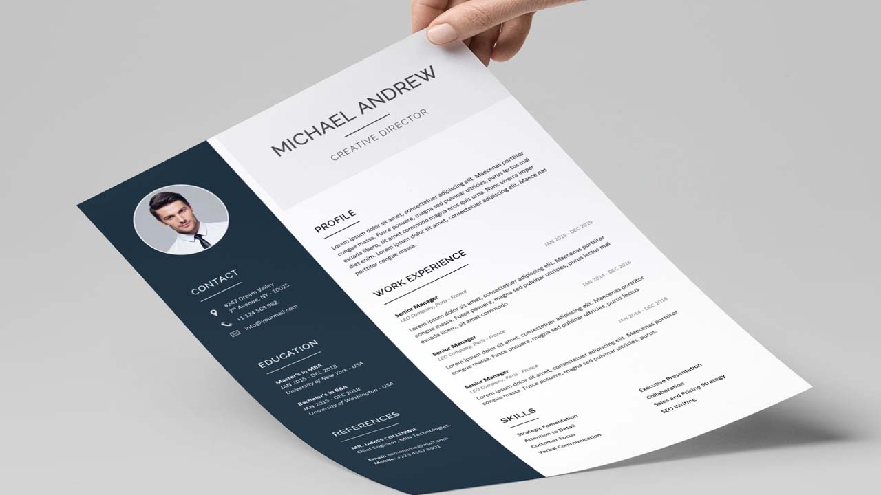 create professional resume and cv in 4 hour