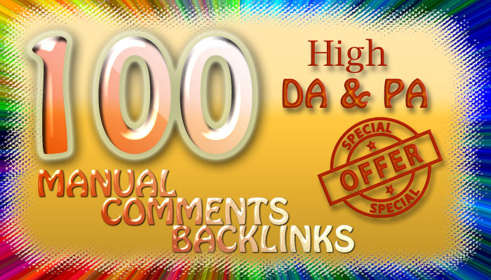 I will establish 100 high da pa dofollow comment backlinks manually