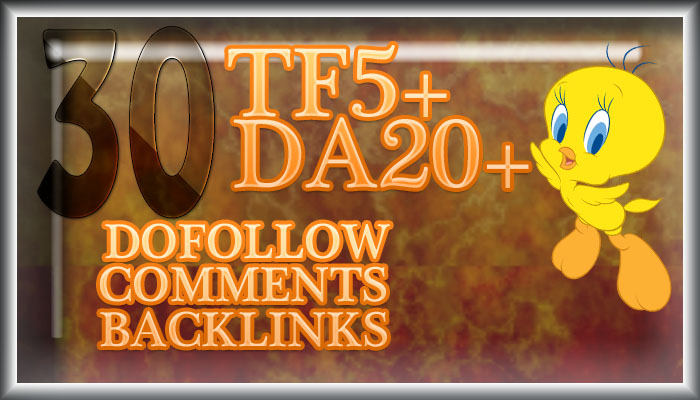 30 Dofollow Majestic High trust flow backlinks
