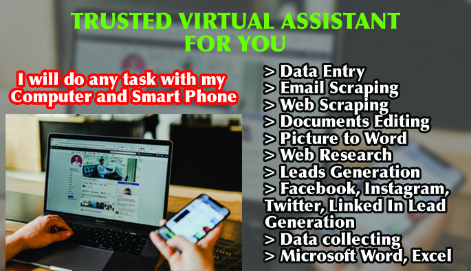 I will do data entry email scraping pdf to word document editing copy paste work