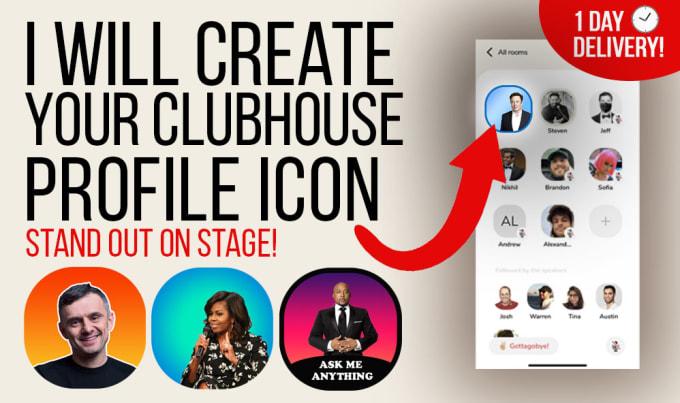 I will create professional culbhouse profile icon