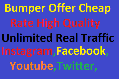 Real 300,000 Worldwide Website Real Unlimited Traffic Instagram, Facebook, YouTube, Twitter