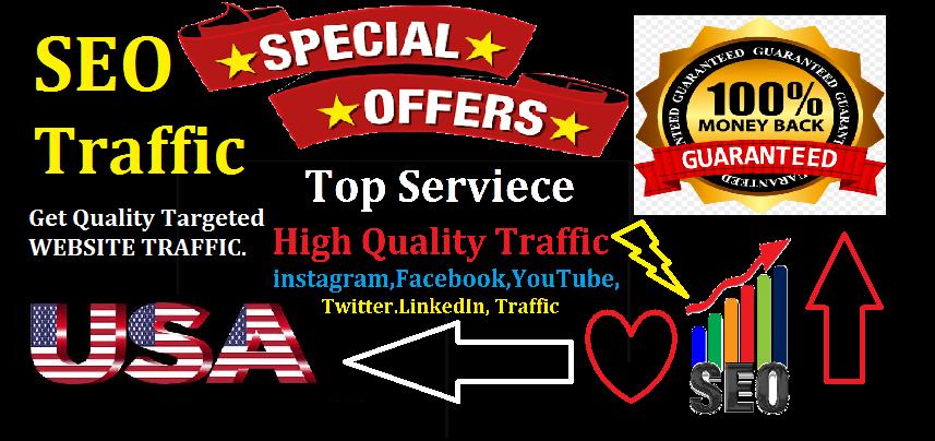 Top Best Service 100,000 Website Worldwide USA Real Traffic Instagram, YouTube, Twitter,  LinkedIn