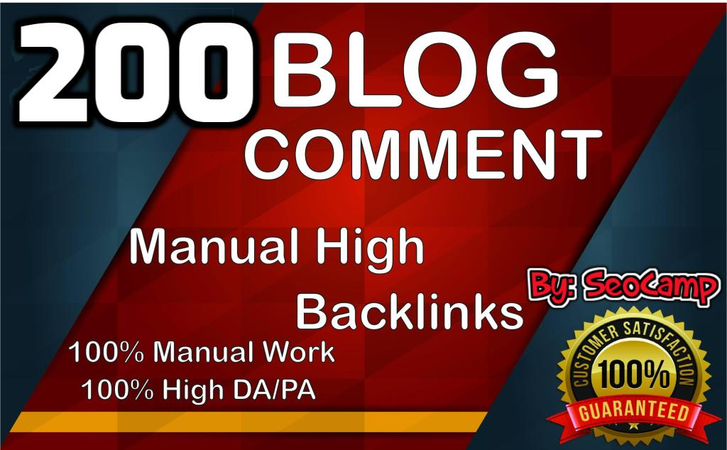 I will submit 200 high quality dofollow blog comments for top ranking