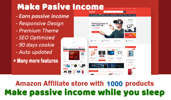 Autopilot Amazon affiliate website with 1000 products