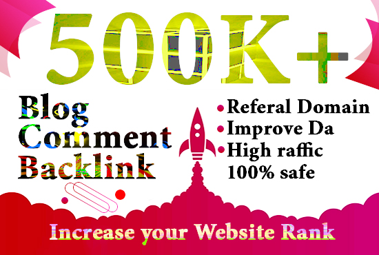 I will create 500,000 highly verified blogcomment backlinks for your website using gsa